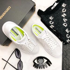 Converse White Snake Embossed Sneakers